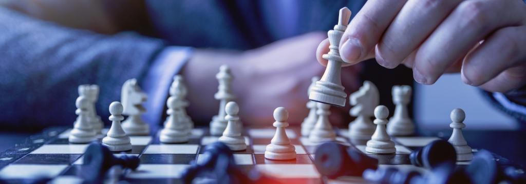 Playing chess. Gateway Biotechnology.